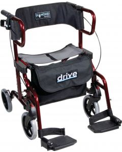 Drive Diamond Deluxe 2-in-1 4 wheel walker