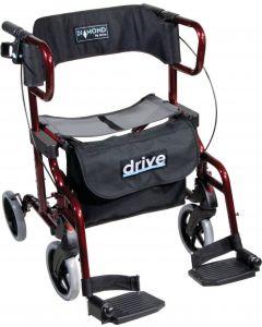 Drive Diamond Deluxe 2-in-1 4 wheel walker